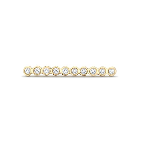 Zoe Chicco femme  14 carats (585/1000)  Or jaune|#Gold Rond   Blanc Diamant