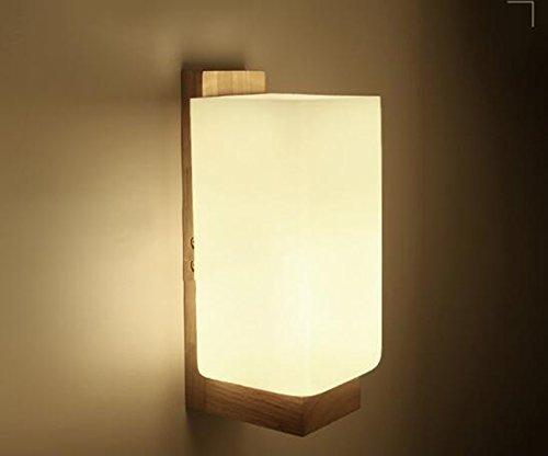 BAIJJ Die Erntezeit- Nachttischlampe Wandlampe Schlichte Moderne Holzwandlampe A +