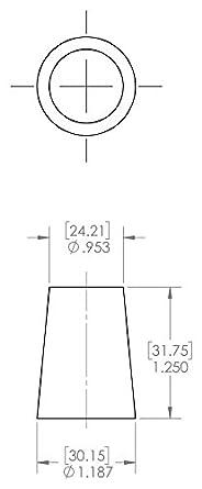 Caplugs SH-51048 Masking Regular Cork Plug RC15 Natural to Plug Min 1.078 Max 1.312 Height 1.250 Caplugs Inc. to Plug Min 1.078 Max 1.312 Height 1.250