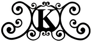 (24 Inch House Plaque Letter K)