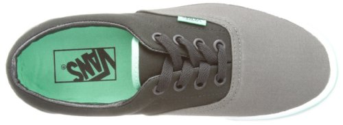 Vans VEWZNVY Unisex Era Canvas Skate Shoes Charcoal/Biscay Green r0Glhq4