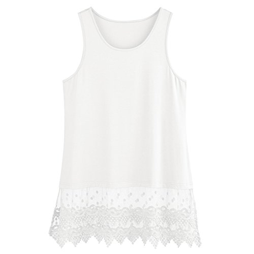 Women's Lace Trim Tunic Extender - Tank Crop Top Hem - 30