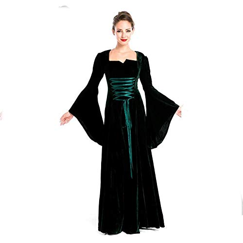 Yunfeng Witch Costume Halloween Costume Retro Court Costume Nobility Queen Outfit Masquerade Party Costume ()
