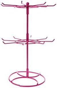 Rose Boucles doreilles lulalula Pr/ésentoir /à Bijoux Rotatif /à 2 Niveaux 16 Crochets Arbre en m/étal pour Colliers Fer Bracelets 31cm