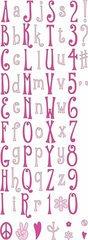 Cuttlebug 2-Inch by 6-Inch Alphabet Die Set, Hippie Chick