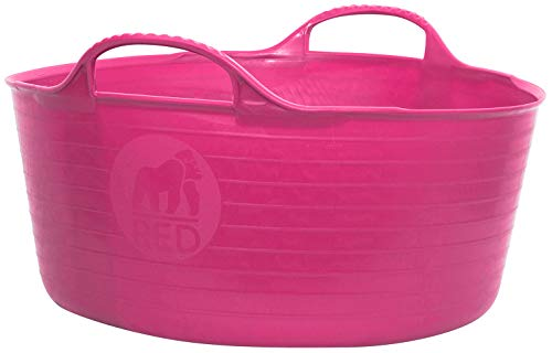 - TubTrug SP15PK Shallow Pink Flex Tub, 15 Liter