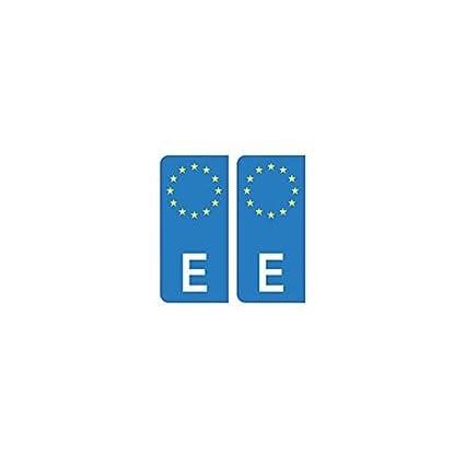 Placa autoadhesiva de matriculaci/ón con el distintivo europeo de Espa/ña