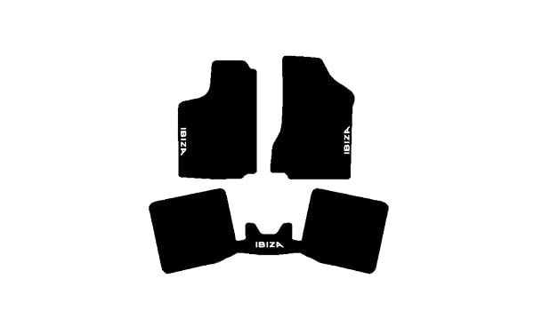 juego completo de alfombrillas sobre tama/ño de moqueta negro Seat Ibiza Modelos 1993/al 2001/Alfombras para coche con trasera iPad