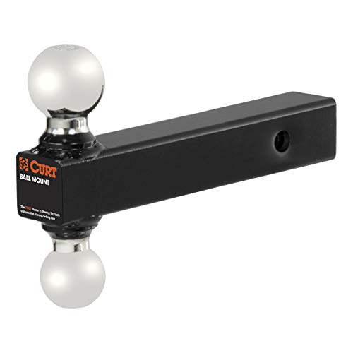 (CURT 45002 Multi-Option Hitch Mount with 2-Inch and 2-5/16-Inch Trailer Balls Fits 2-Inch Receiver, 10,000 lbs. GTW Fits 2-Inch Receiver, 10,000 lbs. GTW)
