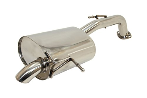 Hb Cat Back Exhaust - Yonaka Compatible with 2013-2014 Hyundai Elantra GT Polished Stainless Steel Axleback Muffler Exhaust i30