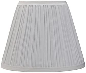 Aspen Creative 33006 Transitional Pleated Empire Shape Spider Construction Lamp Shade in Off White, 9 wide 5 x 9 x 7