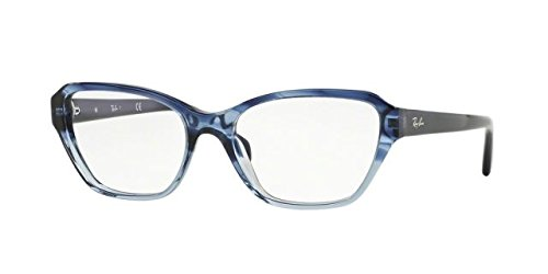 Ray-Ban - RX 5341, Cat Eye, acetate, women, STRIPED BLUE SHADED AZURE(5572), - Ray 53 Ban 17