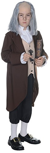 Boy's Ben Franklin Outfit Funny Theme Fancy Dress Child Halloween Costume, Child L -
