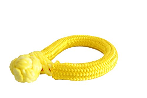 Price comparison product image Yellow 10mm80mm UHMWPE Release Soft Shackle for Offroad Auto Accessories
