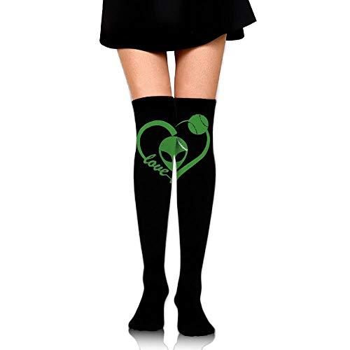 Women's Knee High Compression Thigh High Socks Love Heart Baseballer for Baseball Sport Long Stockings