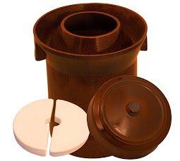 10 L FORM 1 (2.6 Gal) K&K Keramik German Made Fermenting Crock Pot Kerazo F1 by Kerazo (Image #2)