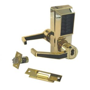 Simplex LL1021M-03-41Left Hand Mechanical Push Button Lock With Yale or Medeco IC Prep Bright Brass Finish by Kaba Ilco