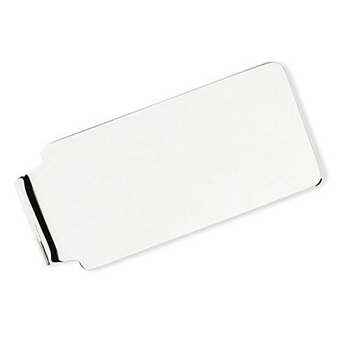 Plain Metal Money Clip 14k White Gold by TheJewelryMaster