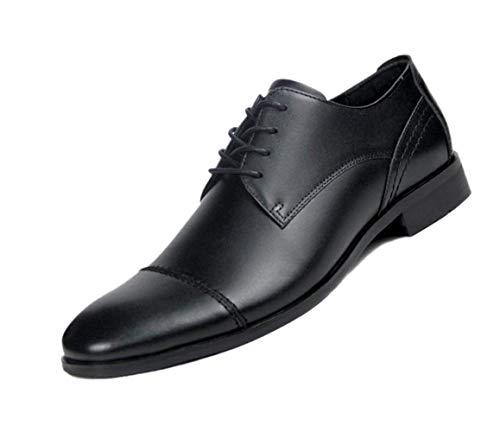 Cuero Derby De Puntiagudo Negro Inglaterra Negocios Para Hombre Black Boda Zapatos Suave Caballero FqwHgxdgI