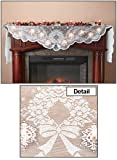 decorating fireplace mantels Miles Kimball Lighted Mantel Scarf White One Size Fits All