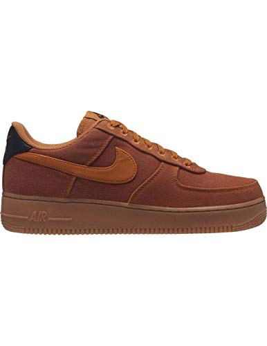 Nike Mens Air Force 1 07 LV8 Canvas Monarch Gum Trainers 11 US (1 Force Air Brown)