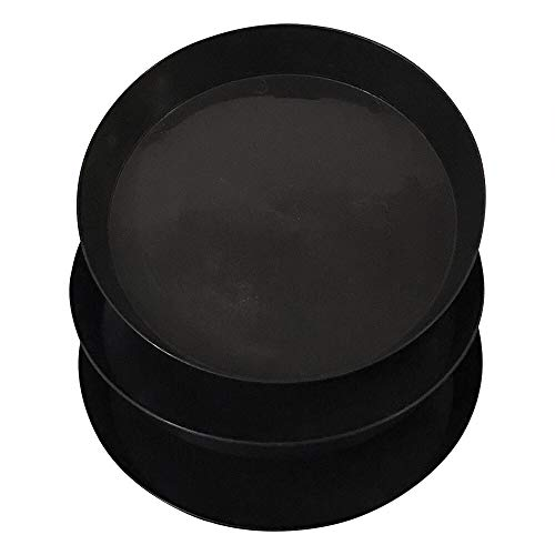Gulfview – Plastic Plant Saucers Round Black Plant Trays 12 Inch Set of 3