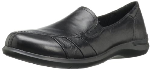 Aravon Women's Faith Flat,Black,8.5 D (W) US