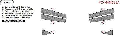 Exterior Overlay ITEM# X-MAM211A-RCF Mazda 2, Exterior Kit (4 Door), 6 Piece Set, Real Carbon Fiber (Carbon Door Real Fiber Pillars)