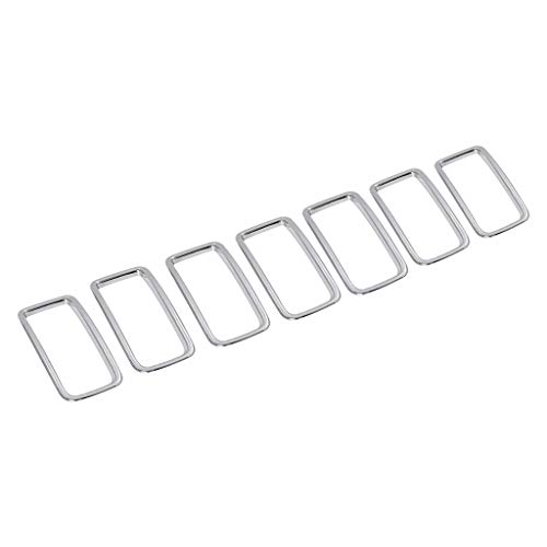 - Geetobby 7PCS Silver ABS Front Grille Trim Ring Insert Cover for Jeep Renegade 2015-2019 Durable Accessories Tools