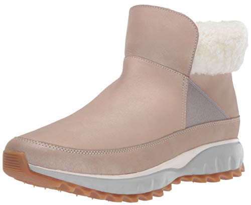 Cole Haan Women's Zerogrand Explore All-Terrain Bootie Waterproof Ankle Boot, Dove Shimmer Leather, 7 B US