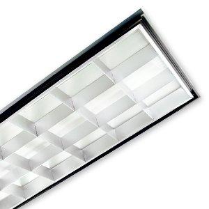 2x4 18 cell parabolic 3 lamp f32 t8 120 277v. Black Bedroom Furniture Sets. Home Design Ideas