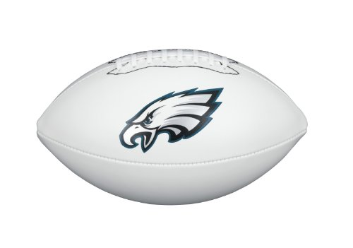 NFL Team Logo Autograph Football Philadelphia Eagles