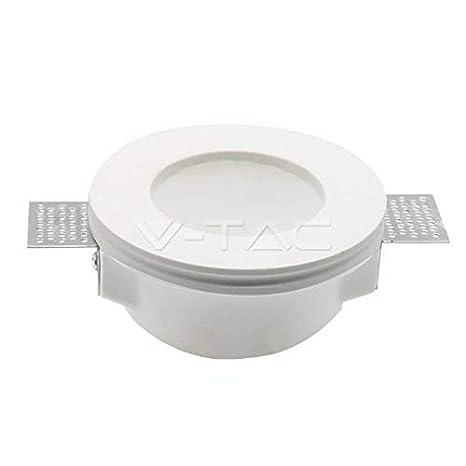 V-Tac - Portafaros empotrable (semioculto), fabricado en yeso de color