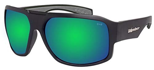 Bomber M103-GM Mega Bomb Safety Glasses -Black Frame, Green Mirror Lens with Gray Foam