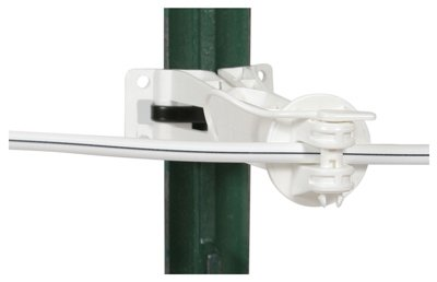 Gallagher North America G694134 Electric Fence Insulator, Offset, White, 5-In, 20-Pk.