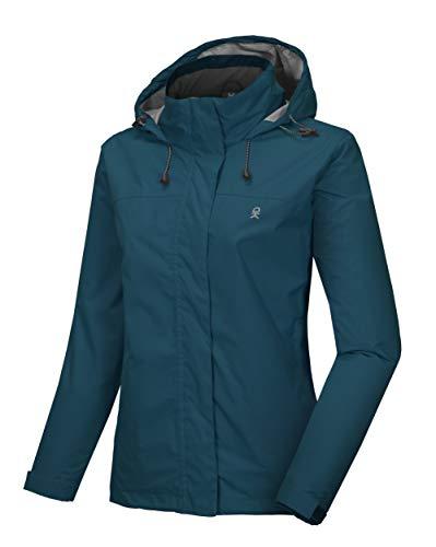 Little Donkey Andy Women's Waterproof Rain Jacket Lightweight Outdoor Windbreaker Rain Coat Shell for Hiking, Travel Blue M