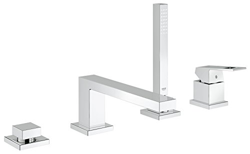 Smooth Roman Tub Set - Eurocube Roman Tub Filler With Personal Hand Shower