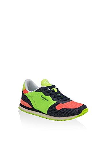 Calzado deportivo para mujer, color Amarillo , marca PEPE JEANS, modelo Calzado Deportivo Para Mujer PEPE JEANS GABLE WOVEN Amarillo Verde / Negro / Fucsia
