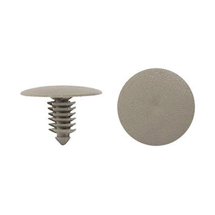 eDealMax 50pcs Universal gris plásticos Sujetadores tipo de inserción de Clip del remache 7 mm de