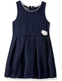 Girls' Jumper Dress with Rosette Detail