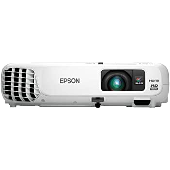 Epson Home Cinema 730HD, HDMI, 3LCD, 3000 Lumens Color and White  Brightness, Home Entertainment Projector
