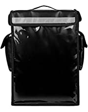 Insulated Food Delivery Backpack, Portable Insulated Cooler Bag with Removable Divider, Pizza Delivery Thermal Backpack, Water Resistant Commercial Food Delivery Bag Durable for Uber Eats Food Service Outdoor Camping (Black)