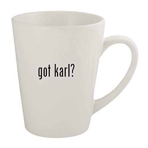 got karl? - Ceramic 12oz Latte Coffee Mug (Karl Pilkington A Day In The Life)