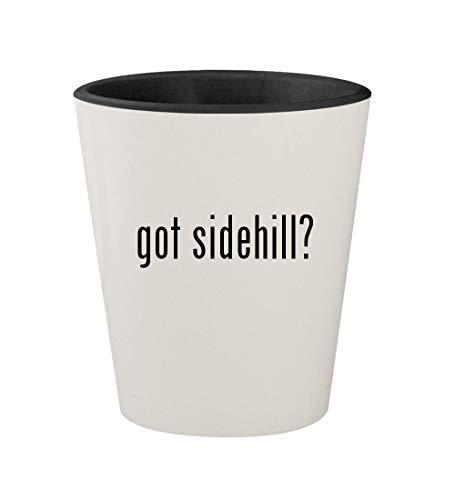 - got sidehill? - Ceramic White Outer & Black Inner 1.5oz Shot Glass