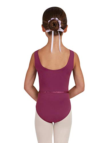 e833487e7b00 Capezio Girls Tactel Collection V-Neck Pinch Front Leotard with Belt ...