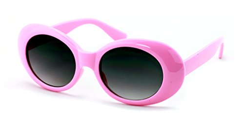 V.W.E. Vintage Sunglasses UV400 Bold Retro Oval Mod Thick Frame Sunglasses Clout Goggles with Gradient lens - V U Sunglasses