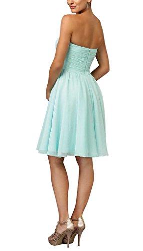 schoene Abendkleid und BRIDE Hellblau Stil frischen Partykleid GEORGE Hellgruen kurze 7nwXq44vU