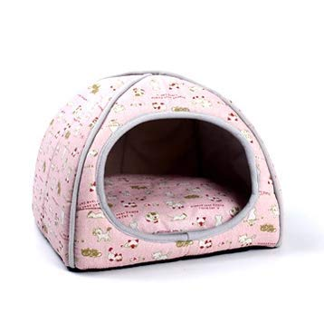 L Kennel cat nest Removable and Washable mats Four Seasons Universal Dog House Small and Medium Dogs Kennel cat nest pet Supplies (Size   L)