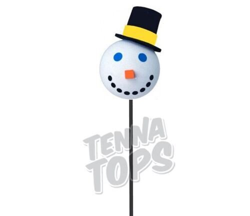 Jack in the Box - Snowman Car Antenna Topper + Yellow Smiley Antenna Ball