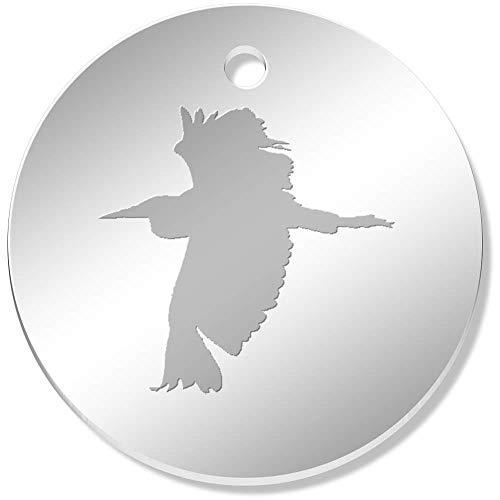 Azeeda 11 x 34mm 'Heron Silhouette' Mirror Pendants / Charms (PN00008849)